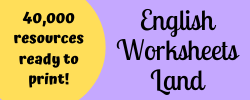 English Worksheets Land