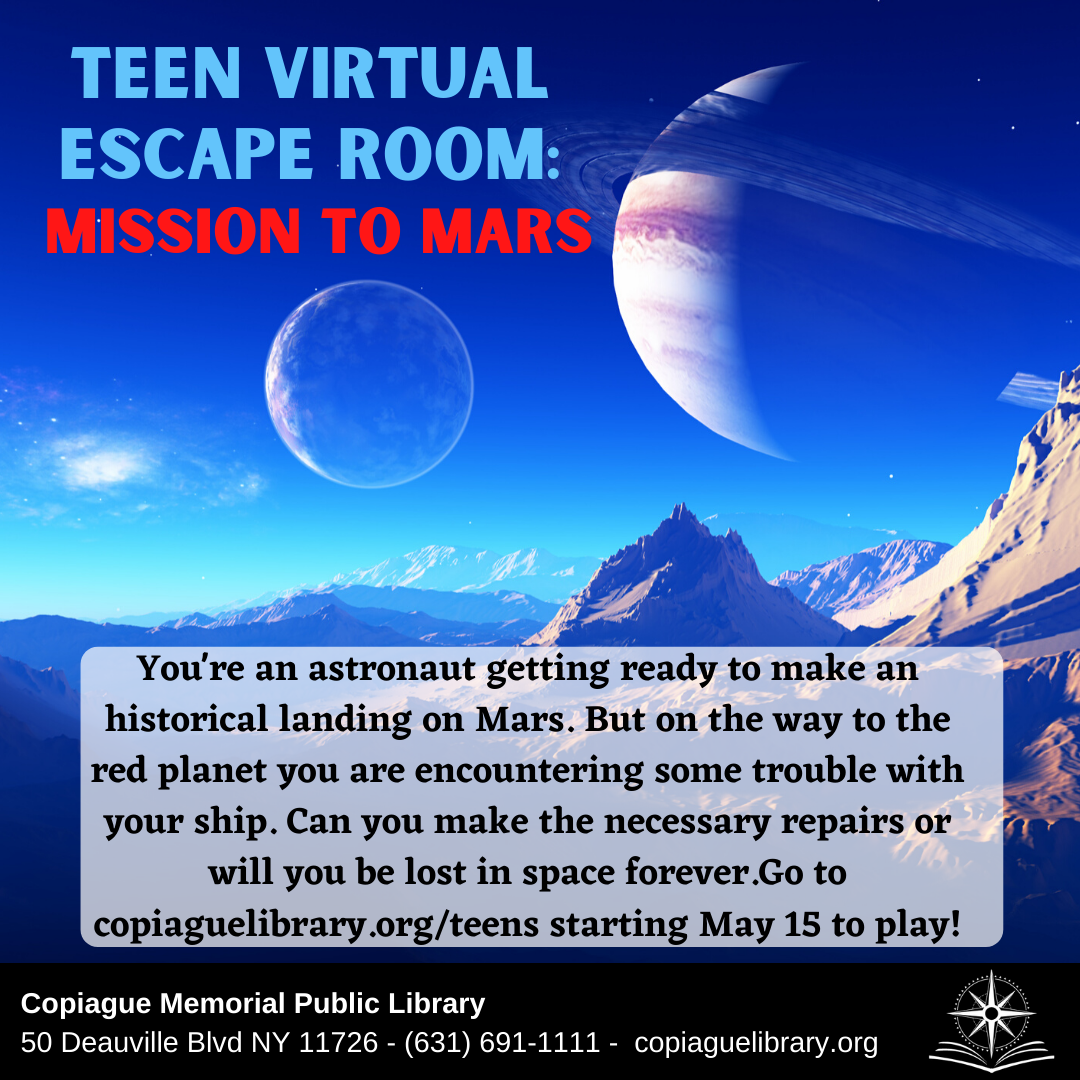 Teen Virtual Escape Room: Mission to Mars