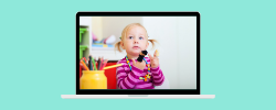 kid with fingerpuppet