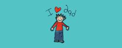 I heart Dad drawing