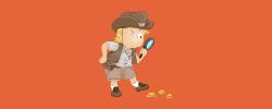 kid looking for treasure