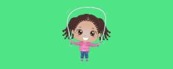 kid jumping rope