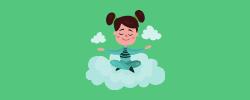 kid meditating on cloud