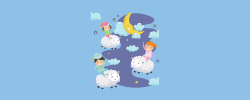 kids in pajamas and dream sheep