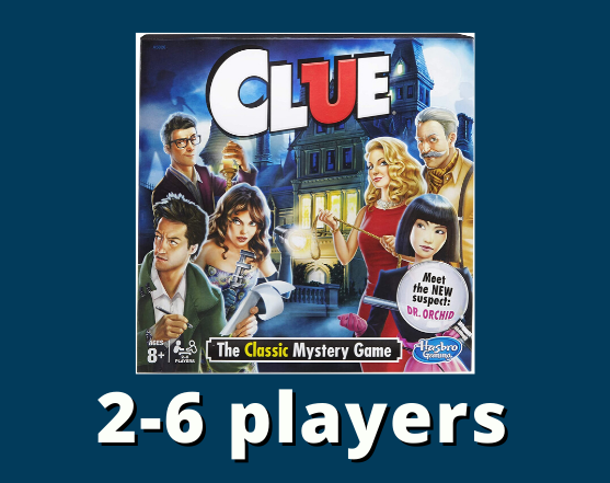 Clue 2-6 players
