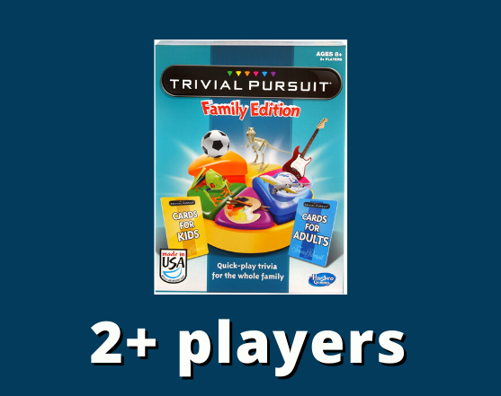 Trivial pursuit family edition 2+ players