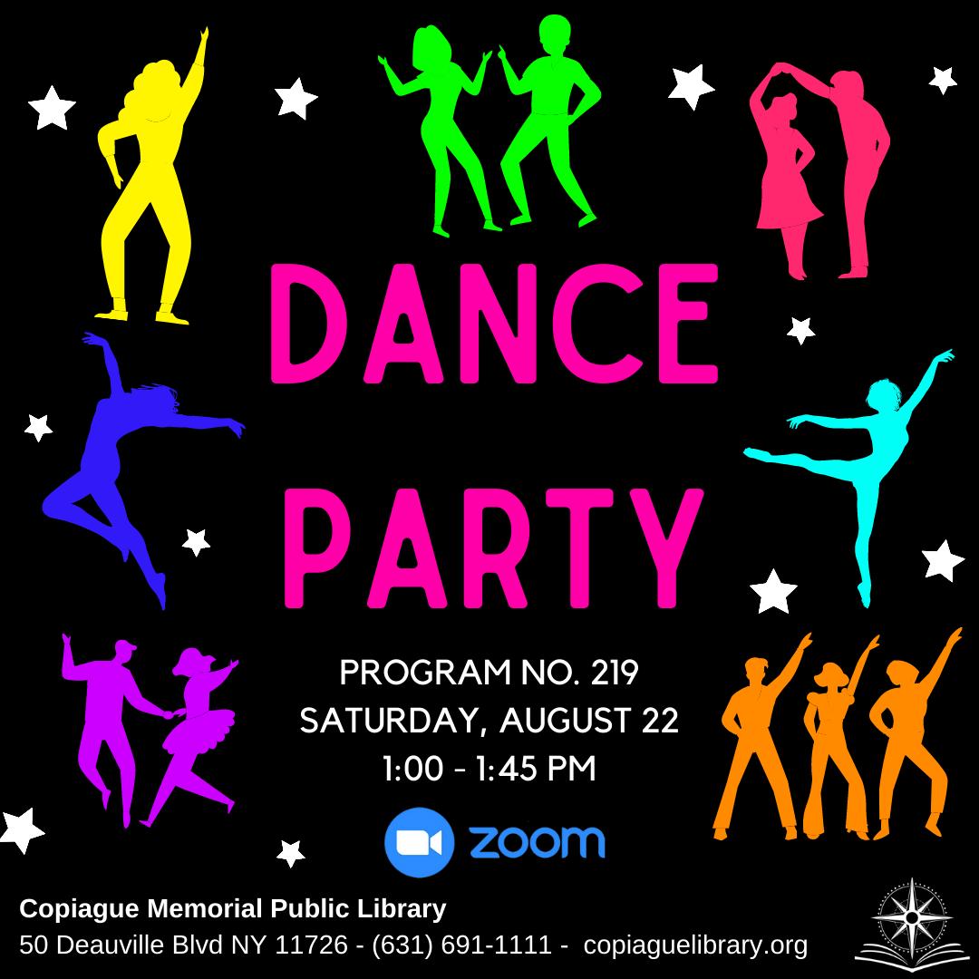 Dance Party Program No. 219 Saturday, August 22 1:00 - 1:45 PM